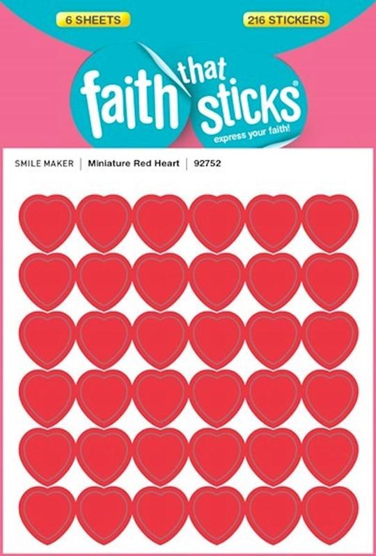Sticker-Miniature Red Heart (6 Sheets) (Faith That Sticks) | SHOPtheWORD