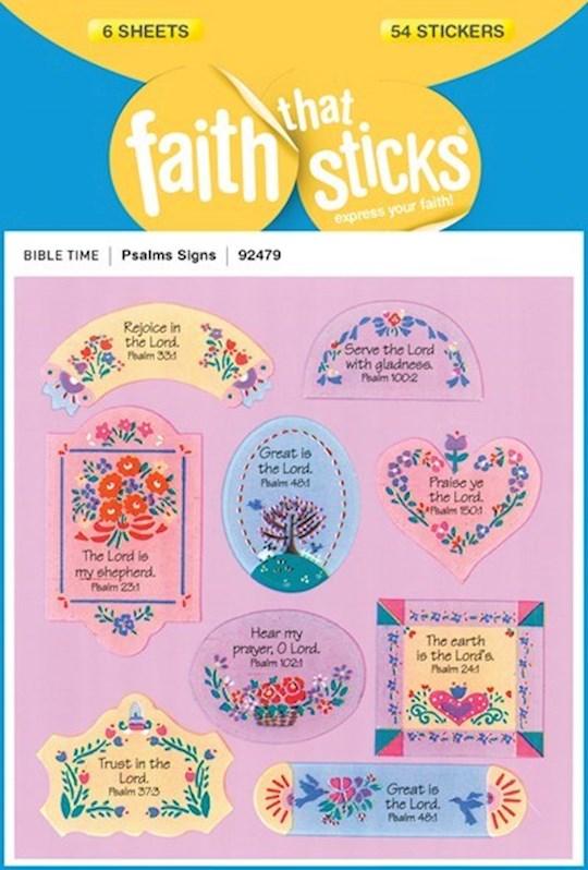 Sticker-Psalms Signs (6 Sheets) (Faith That Sticks)   SHOPtheWORD