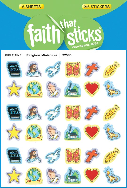 Sticker-Religious Miniatures (6 Sheets) (Faith That Sticks)   SHOPtheWORD
