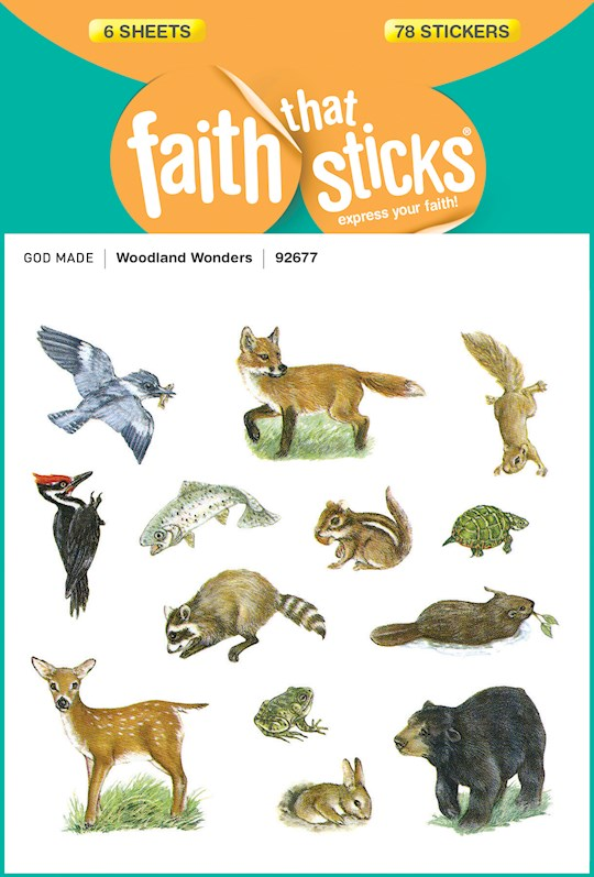 Sticker-Woodland Wonders (6 Sheets) (Faith That Sticks) | SHOPtheWORD
