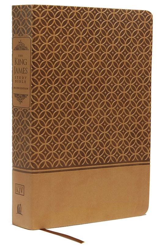 KJV King James Study Bible (Second Edition)-Cafe Au Lait LeatherSoft Indexed   SHOPtheWORD