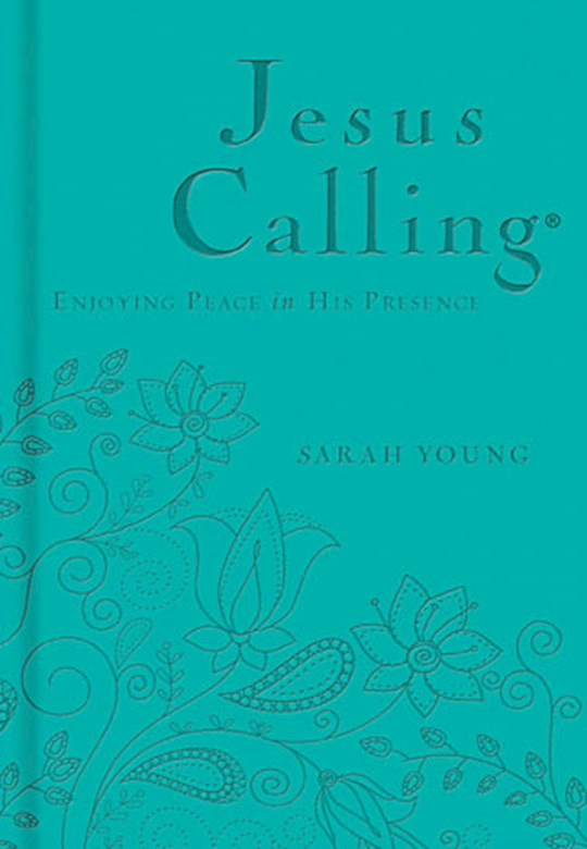 Jesus Calling (Deluxe Edition)-Teal LeatherSoft by Sarah Young | SHOPtheWORD