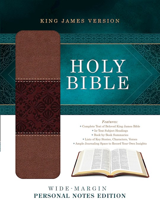 KJV Wide-Margin Personal Notes Bible-Tan/Brown DiCarta | SHOPtheWORD