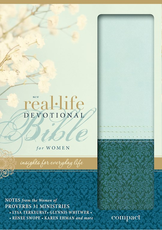 NIV Real-Life Devotional Bible For Women/Compact-Sea Glass/Blue Duo-Tone | SHOPtheWORD