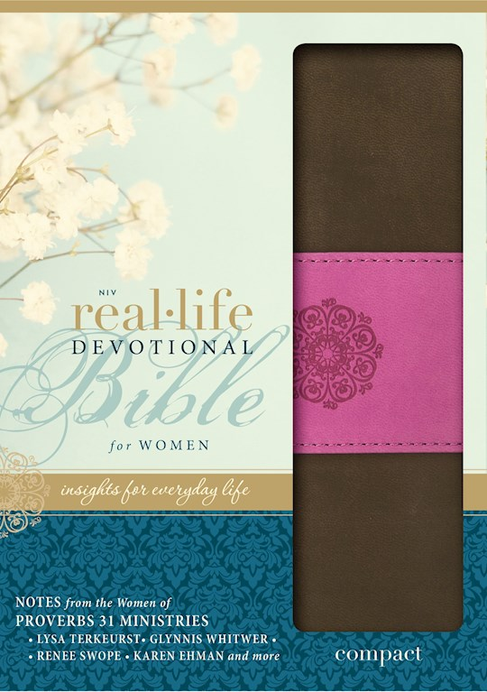 NIV Real-Life Devotional Bible For Women/Compact-Chocolate/Orchid Duo-Tone | SHOPtheWORD