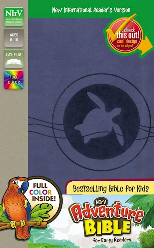 NIrV Adventure Bible For Early Readers (Full Color)-Blueberry DuoTone | SHOPtheWORD