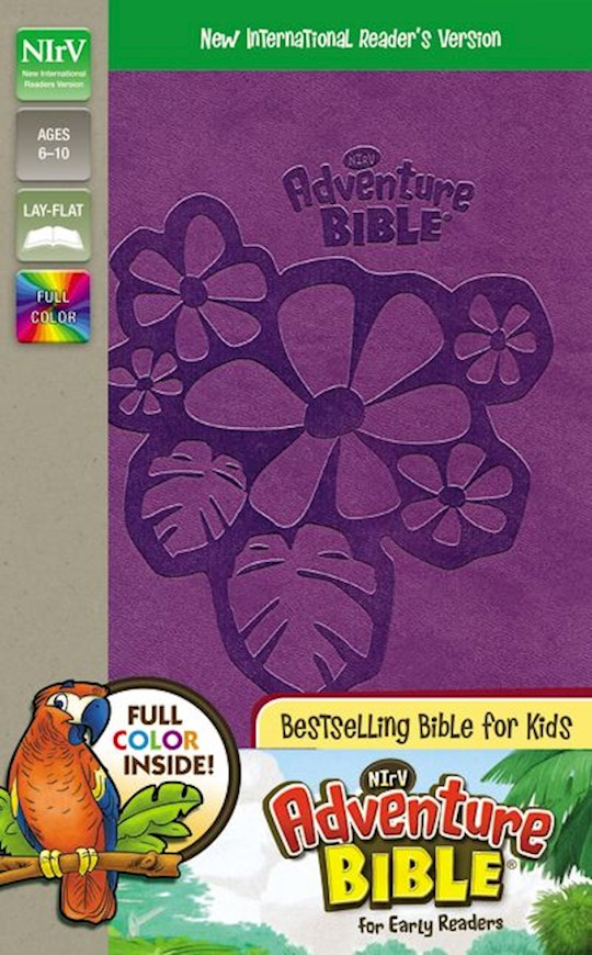 NIrV Adventure Bible For Early Readers (Full Color)-Purple DuoTone | SHOPtheWORD