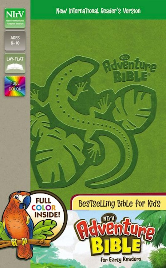 NIrV Adventure Bible For Early Readers (Full Color)-Green DuoTone | SHOPtheWORD