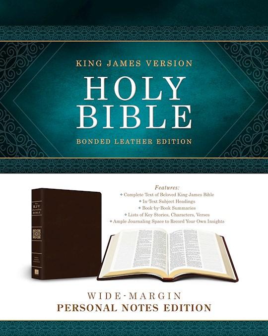 KJV Wide-Margin Personal Notes Bible-Burgundy Bonded Leather | SHOPtheWORD