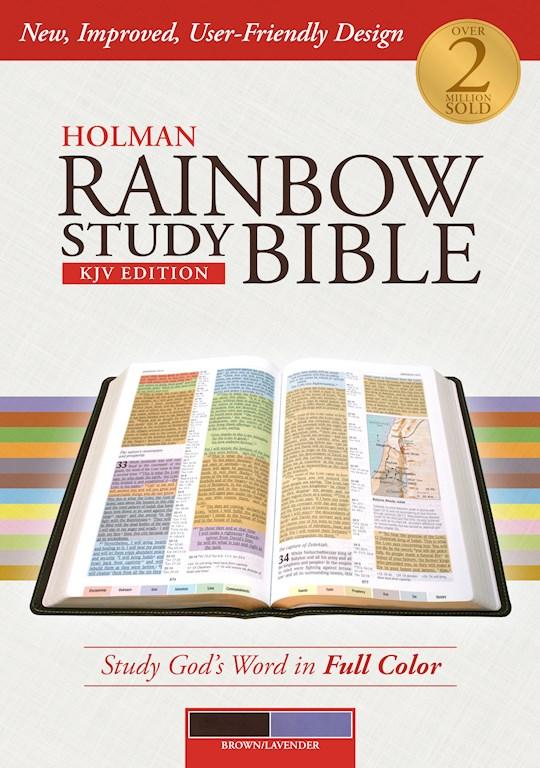 KJV Holman Rainbow Study Bible-Brown/Lavender LeatherTouch | SHOPtheWORD