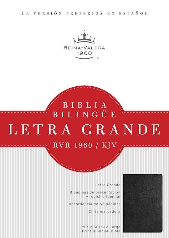 Span-RVR 1960/KJV Large Print Bilingual Bible-Black Imitation Leather Index (Repack) | SHOPtheWORD