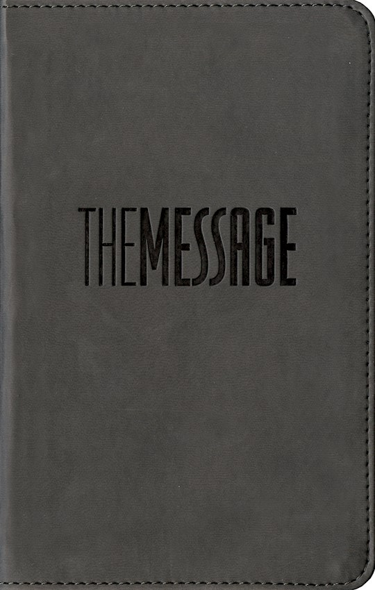 Message Compact Bible-Graphite LeatherLook  (Not Available-Out Of Print) | SHOPtheWORD