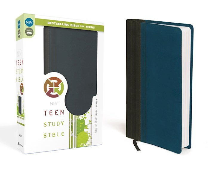 NIV Teen Study Bible-Graphite/Blue Duo-Tone | SHOPtheWORD