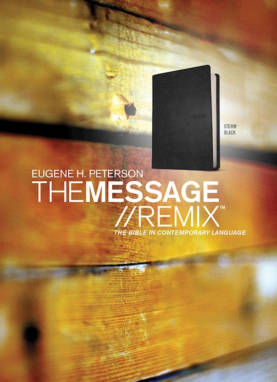 The Message Remix 2.0 (Numbered Edition) (Repack)-Storm Black LeatherLook | SHOPtheWORD