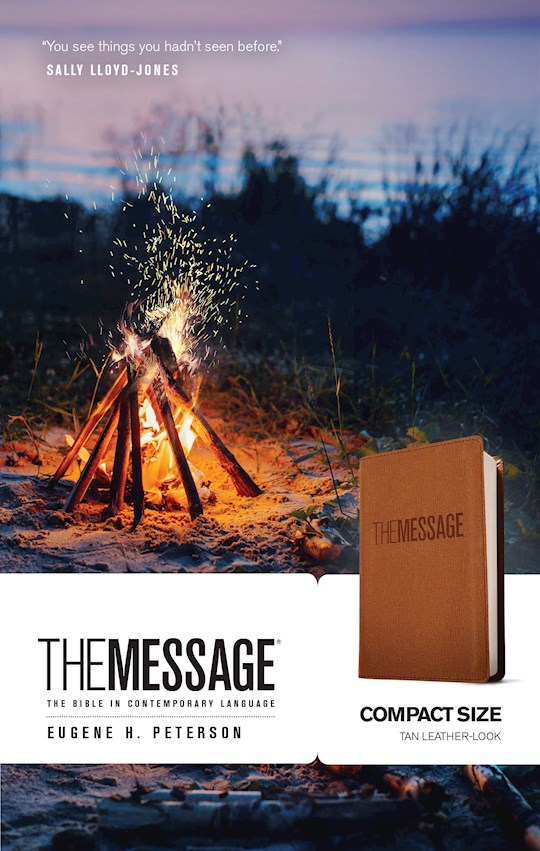 The Message Compact Bible-Tan LeatherLook | SHOPtheWORD