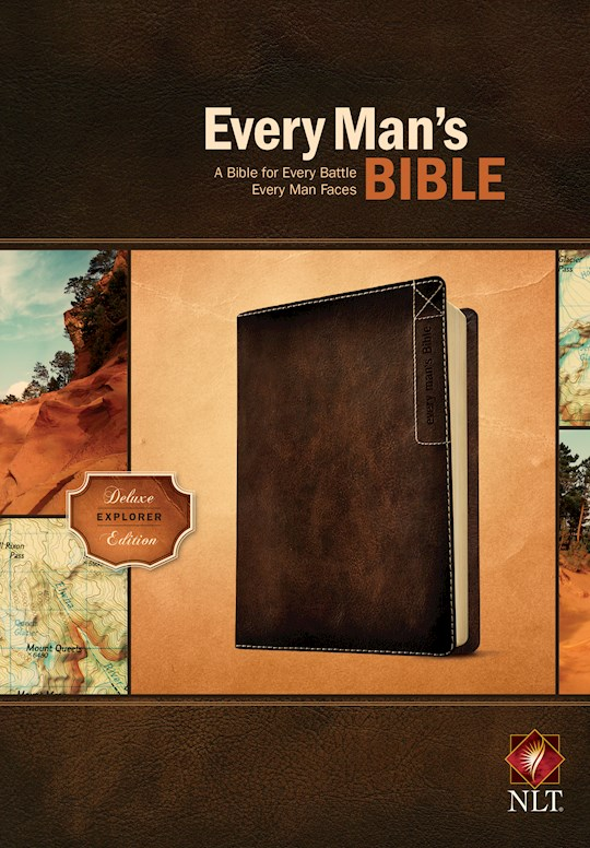 NLT Every Man's Bible: Deluxe Explorer Edition-Rustic Brown LeatherLike | SHOPtheWORD