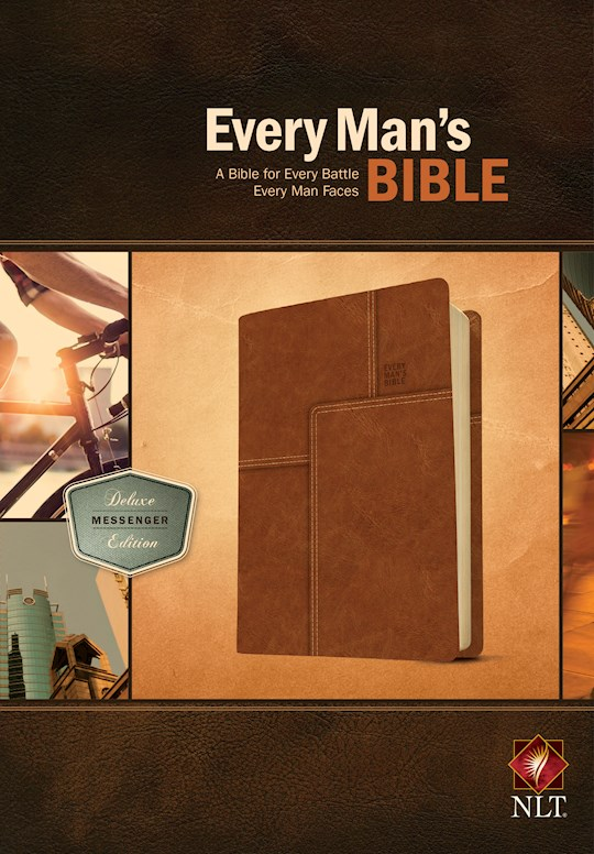 NLT Every Man's Bible: Deluxe Messenger Edition-Layered Brown LeatherLike | SHOPtheWORD