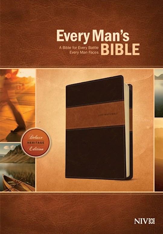 NIV Every Man's Bible-Deluxe Heritage Edition-Brown/Tan TuTone | SHOPtheWORD