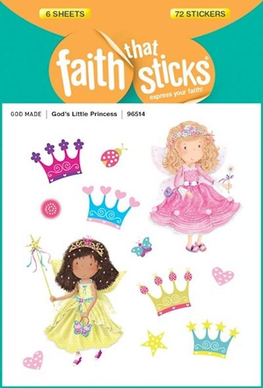 Sticker-God's Little Princess (6 Sheets) (Faith That Sticks) | SHOPtheWORD