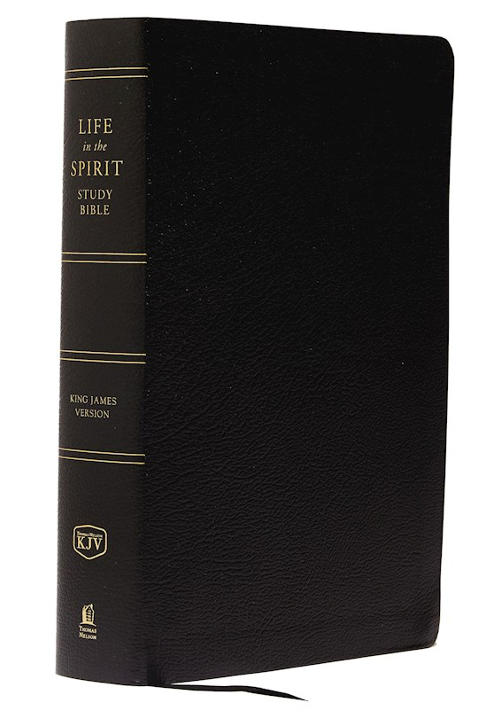 KJV Life In The Spirit Study Bible-Black Bonded Leather | SHOPtheWORD