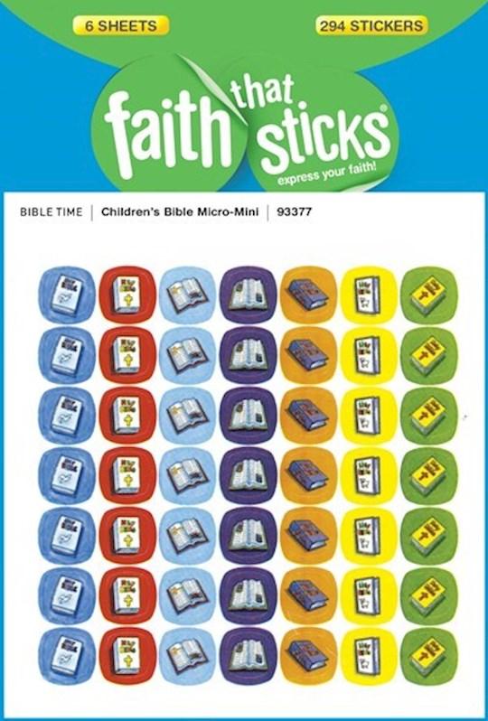 Sticker-Children's Bible Micro-Mini (6 Sheets) (Faith That Sticks) | SHOPtheWORD