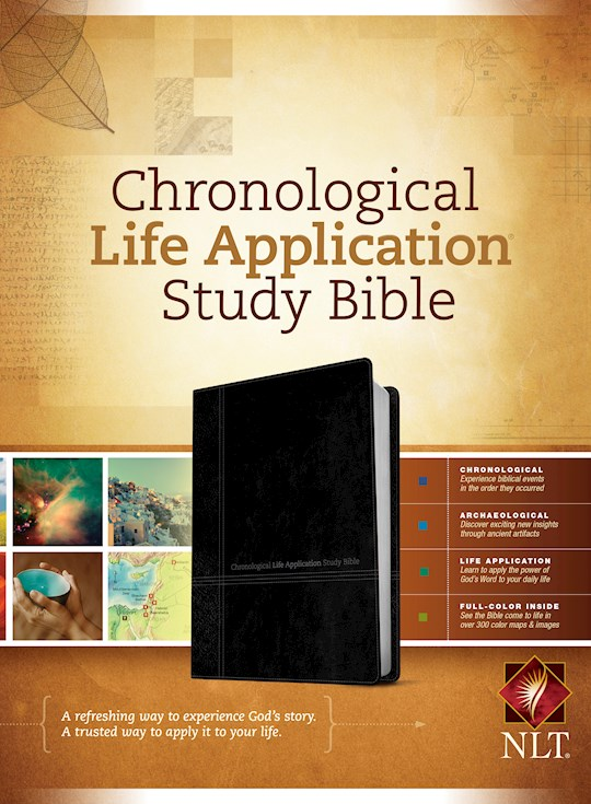 NLT Chronological Life Application Study Bible-Black/Onyx TuTone | SHOPtheWORD