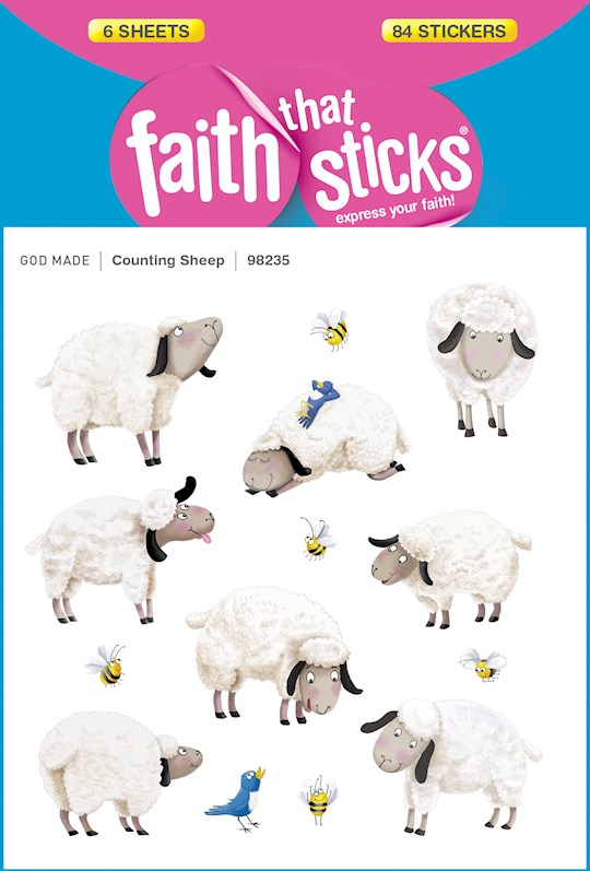 Sticker-Counting Sheep (6 Sheets) (Faith That Sticks) | SHOPtheWORD