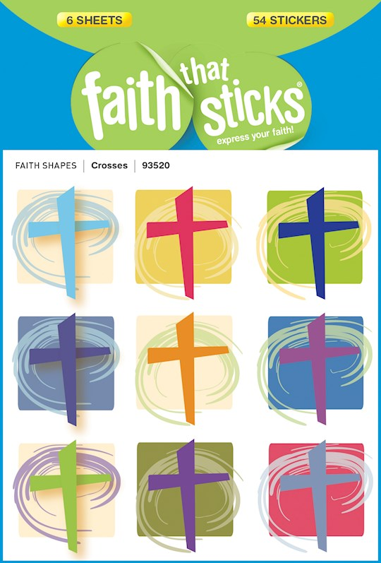 Sticker-Crosses (6 Sheets) (Faith That Sticks) | SHOPtheWORD