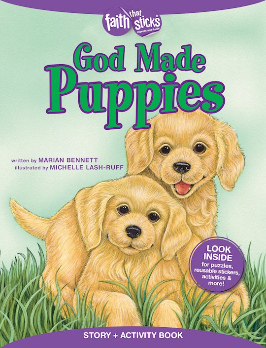 God Made Puppies Activity Book  (Faith That Sticks) by Marian Bennett | SHOPtheWORD