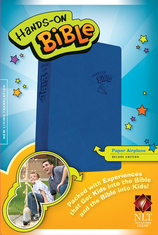 NLT Hands-On Bible (Updated Edition)-Blue Paper Airplane Imitation Leather | SHOPtheWORD