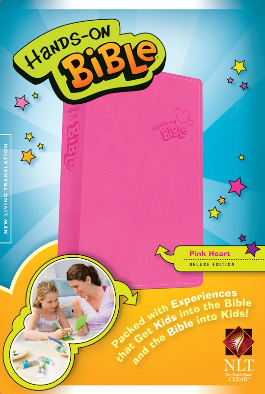 NLT Hands-On Bible (Updated Edition)-Pink Heart LeatherLike | SHOPtheWORD