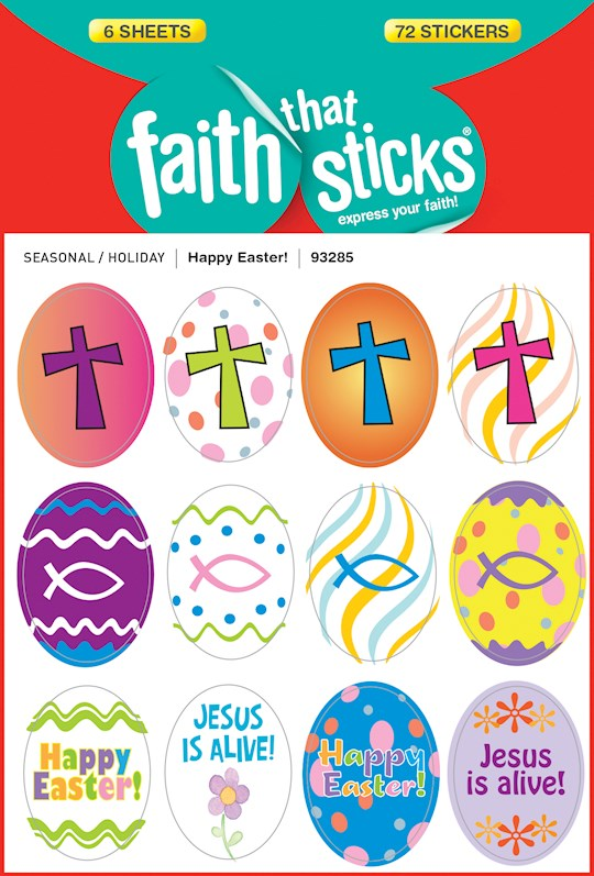 Sticker-Happy Easter! (6 Sheets) (Faith That Sticks)   SHOPtheWORD