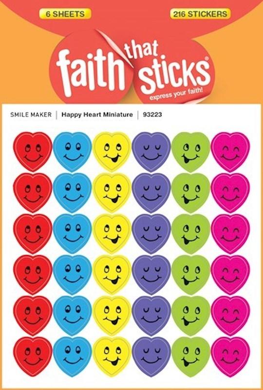 Sticker-Happy Heart Miniatures (6 Sheets) (Faith That Sticks) | SHOPtheWORD
