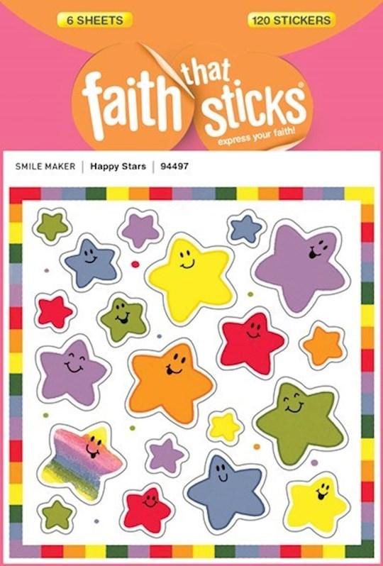 Sticker-Happy Stars (6 Sheets) (Faith That Sticks) | SHOPtheWORD