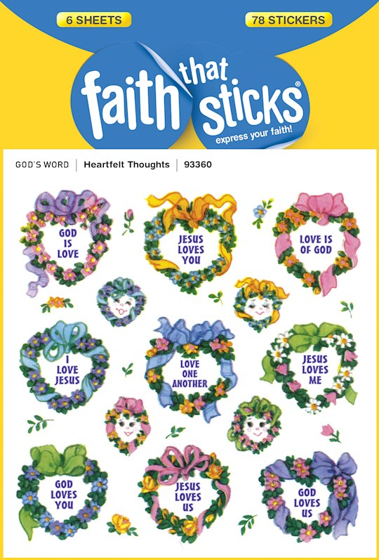 Sticker-Heartfelt Thoughts (6 Sheets) (Faith That Sticks) | SHOPtheWORD