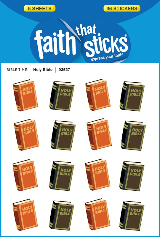 Sticker-Holy Bible (6 Sheets) (Faith That Sticks) | SHOPtheWORD