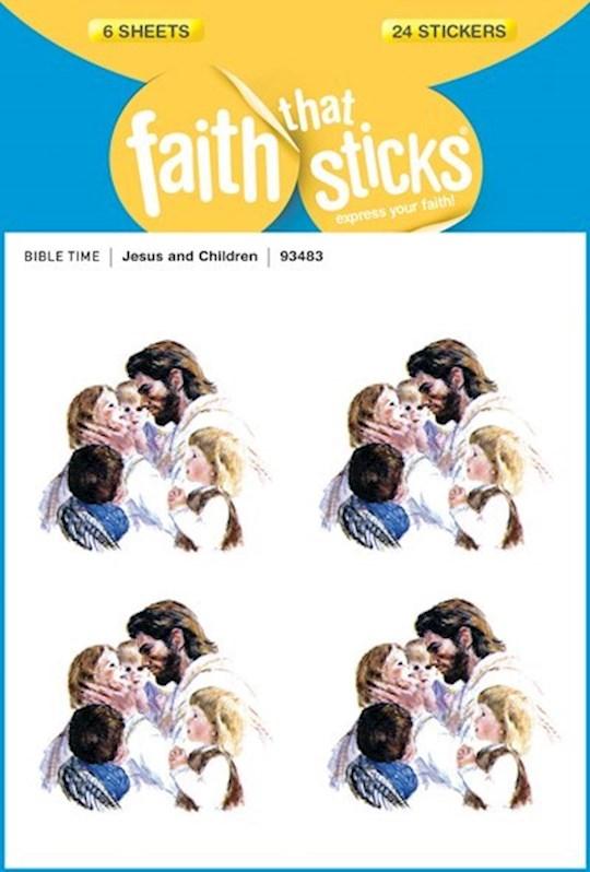 Sticker-Jesus & Children (6 Sheets) (Faith That Sticks) | SHOPtheWORD