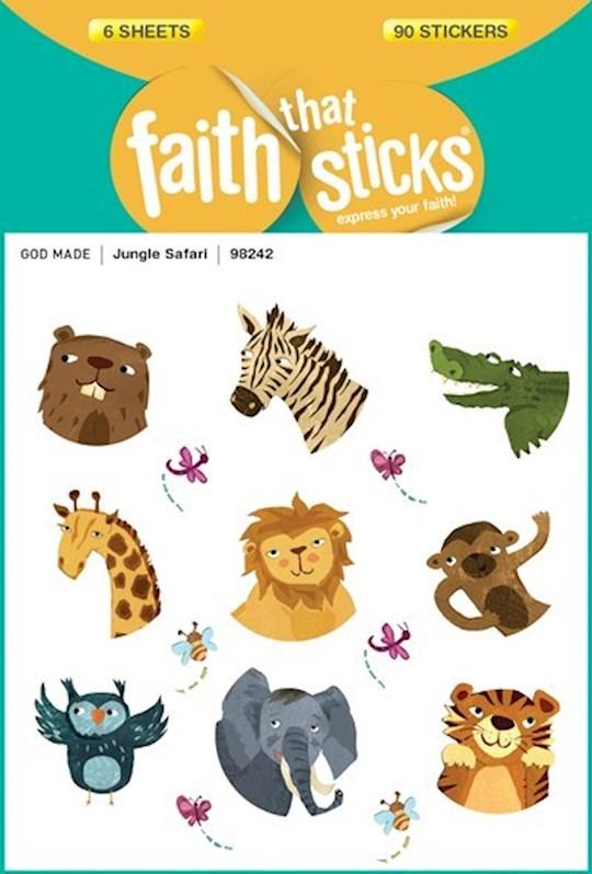 Sticker-Jungle Safari (6 Sheets) (Faith That Sticks) | SHOPtheWORD