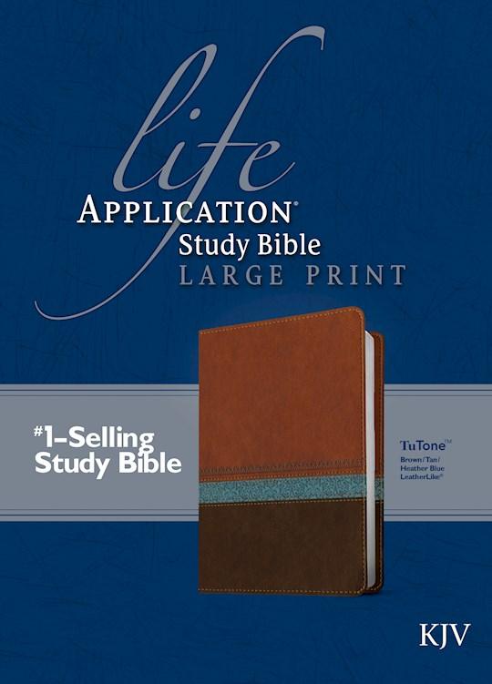 KJV Life Application Study Bible/Large Print-Brown/Tan/Blue TuTone   SHOPtheWORD