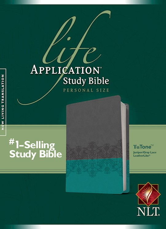 NLT Life Application Study Bible/Personal Size-Juniper/Gray Lace TuTone | SHOPtheWORD
