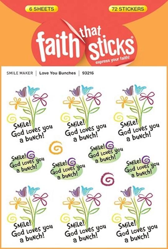 Sticker-Love You Bunches (6 Sheets) (Faith That Sticks) | SHOPtheWORD