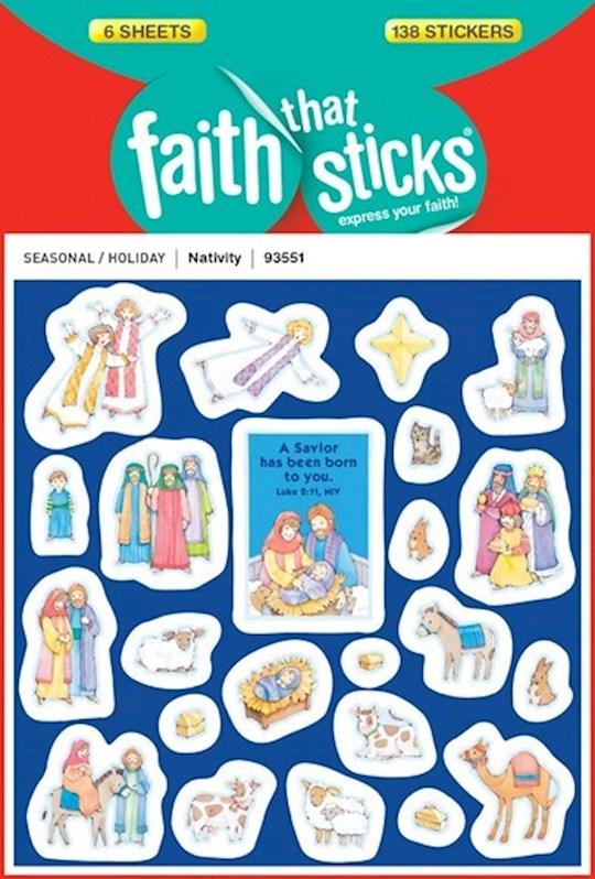 Sticker-Nativity (6 Sheets) (Faith That Sticks) | SHOPtheWORD
