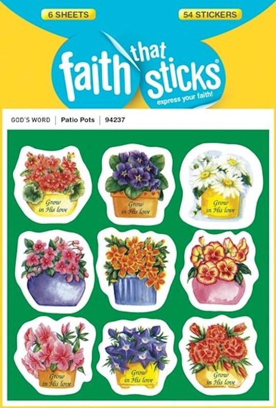 Sticker-Patio Pots (6 Sheets) (Faith That Sticks)   SHOPtheWORD