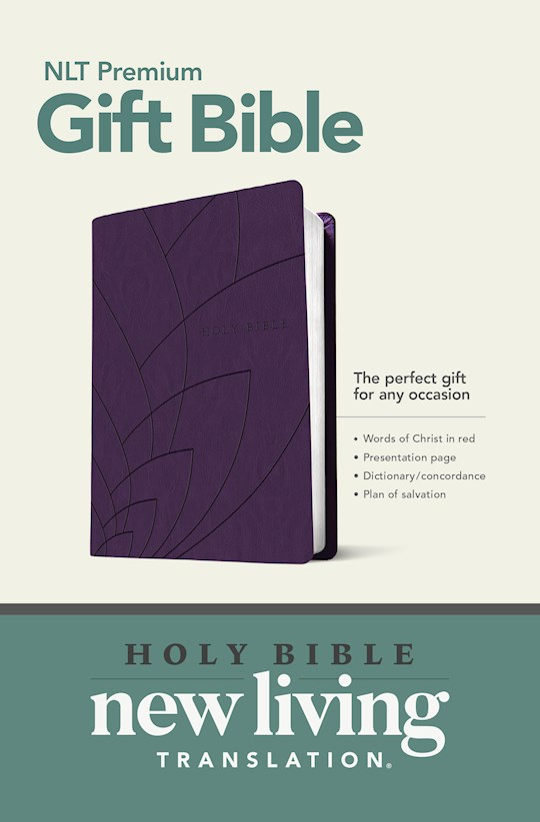 NLT Premium Gift Bible-Purple Petals LeatherLike | SHOPtheWORD