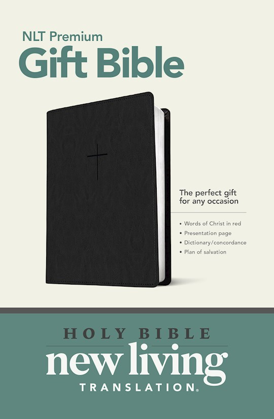 NLT Premium Gift Bible-Black LeatherLike | SHOPtheWORD