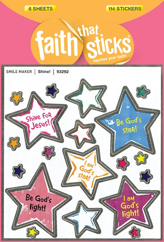 Sticker-Shine (6 Sheets) (Faith That Sticks) | SHOPtheWORD