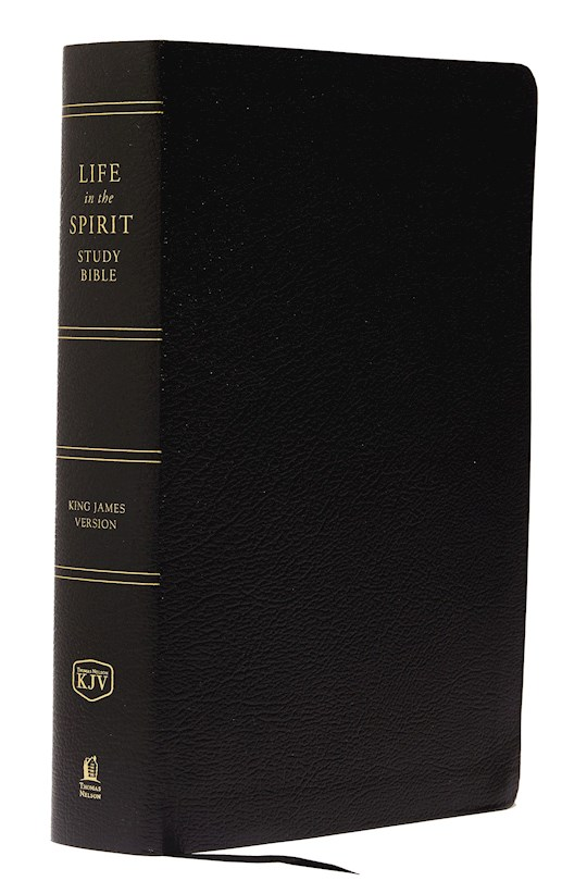KJV Life In The Spirit Study Bible-Black Bonded Leather Indexed   SHOPtheWORD