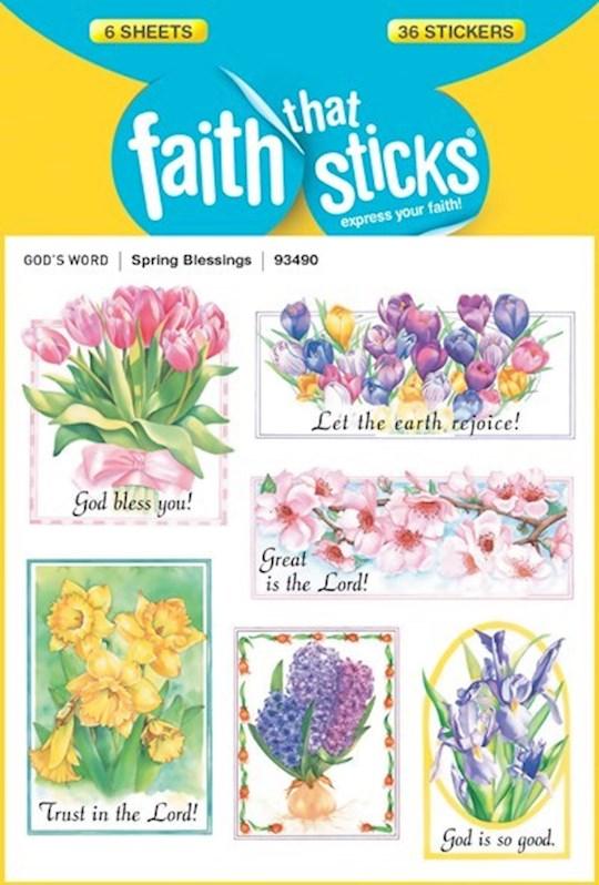 Sticker-Spring Blessings (6 Sheets) (Faith That Sticks) | SHOPtheWORD