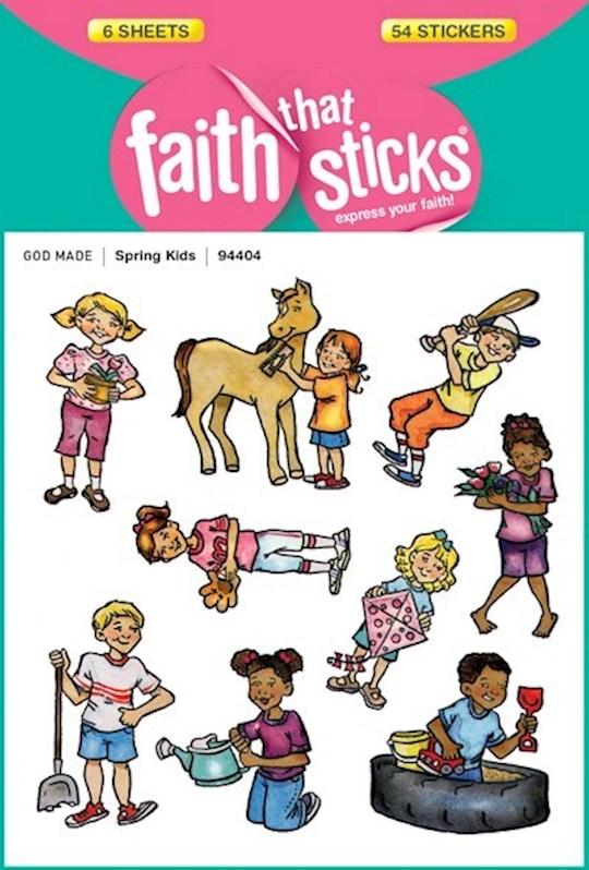 Sticker-Spring Kids (6 Sheets) (Faith That Sticks)   SHOPtheWORD