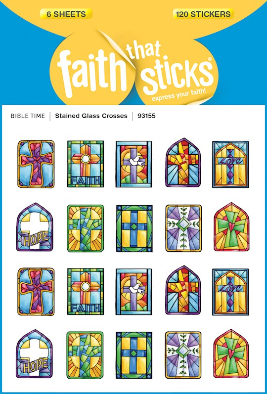 Sticker-Stained Glass Crosses (6 Sheets) (Faith That Sticks)   SHOPtheWORD